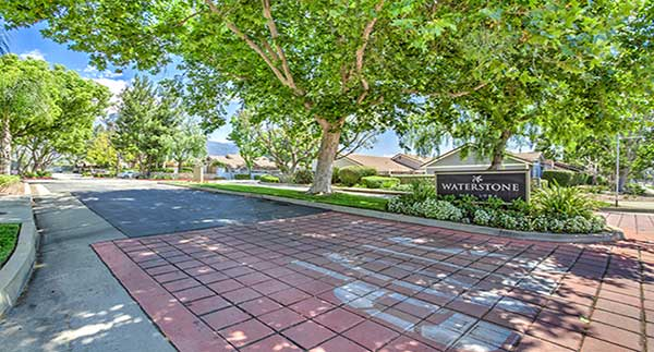 Waterstone Alta Loma Apartments entry driveway