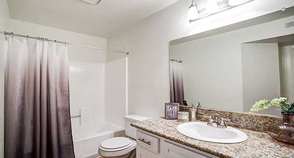 Waterstone Alta Loma Apartment bathroom interior