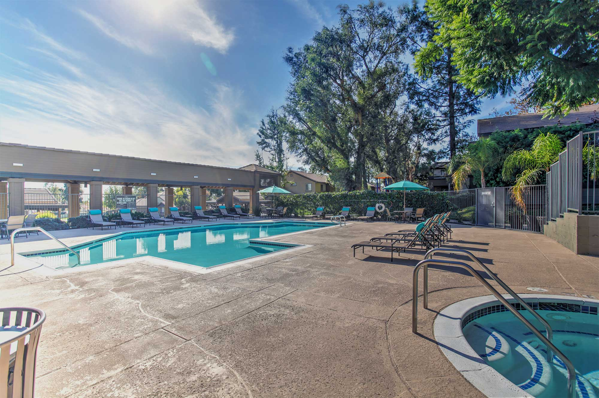 Waterstone Alta Loma Apartments Community Pool Area